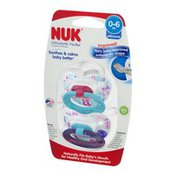NUK Orthodontic Pacifier Silicone 0-6m - 2 CT