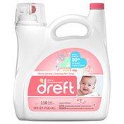 Dreft Liquid Detergent 110 Loads 150oz