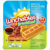Lunchables Breakfast Waffle & Bacon Dippers Lunch Combination
