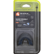 Shock Doctor Adult Nano Double Convertible Slim Fit Mouthguard - Grey