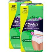 Always Discreet , Postpartum Incontinence Underwear For Women, Maximum,