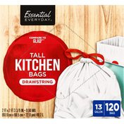 Essential Everyday Tall Kitchen Bags, Drawstring