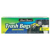 Best Choice Large Drawstring Trash Liners