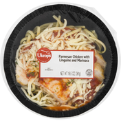 Ukrops Parmesan Chicken with Linguine and Marinara