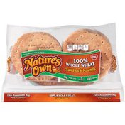 Nature's Own 100% Whole Wheat Sandwich Rounds