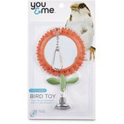 Nobby Flower Mirror With Bell Cage Toy