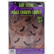 Fun World Gauze Drape and 8 Bats, Bat Scene, 12 Feet (3.6 m), 15+