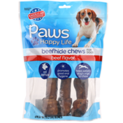 Paws Happy Life Beef Flavor Beefhide Chews For Dogs