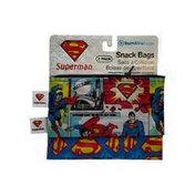 Bumkins Small DC Comics Superman Reusable Snack Bags