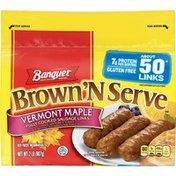 Banquet Brown N Serve Maple Sausage Links