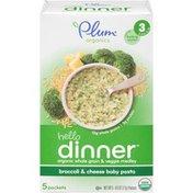 Plum Organics Hello Dinner Broccoli & Cheese Baby Pasta Stage 3 Baby Food