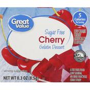 Great Value Gelatin Dessert, Sugar Free, Cherry