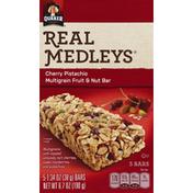 Real Medleys Fruit & Nut Bars, Multigrain, Cherry Pistachio