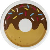Party Creations Plates, Premium Strength, Donut Time, 6-7/8 Inch
