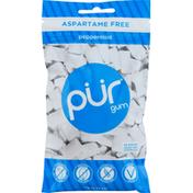 Pur Chewing Gum, Aspartame Free, Peppermint