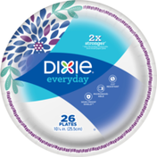 Dixie Everyday Printed Paper Plates, 10 1/16 IN Plates, 26CT