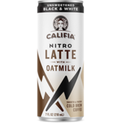 Califia Farms Nitro Draft Latte Cold Brew Can - Black & White