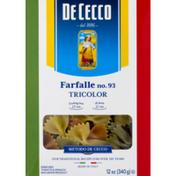 De Cecco Farfalle No. 93 Tricolor