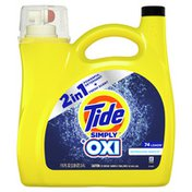Tide Simply + Oxi Liquid Laundry Detergent, Refreshing Breeze