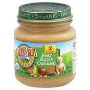 Earth's Best Organic, 6 Months+, Baby Food, Pear Apple Oatmeal, Jar