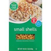 Food Club Enriched Macaroni Product, Small Shells