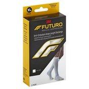FUTURO Stocking, Anti-Embolism, Knee Length Closed Toe, X-Large Regular, White