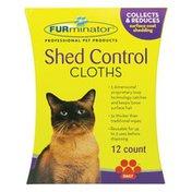 FURminator Shed Control Cloths For Cats