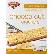 Hannaford White Cheddar Cheese Cut Crackers
