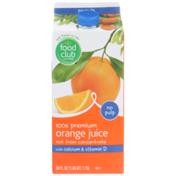 Food Club No Pulp 100% Premium Orange Juice With Calcium & Vitamin D