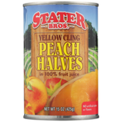 Stater Bros. Markets 100% Juice Yellow Cling Peach Halves