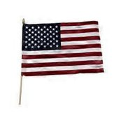 """S&S 12"""" x 18"""" Cotton US Flags (pack of 12)"""