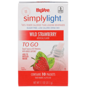 Hy-Vee Simplylight, Wild Strawberry Sugar Free, Low Calorie Drink Mix To Go