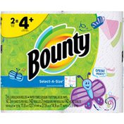 Bounty Select-A-Size Spring Prints Paper Towels