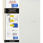 Five Star Notebook, College Ruled, 1 Subject, 100 Sheets