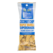 Made in Nature Organic Supersnacks Coconut Chips Maple Vanilla