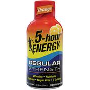 5-hour ENERGY Energy Shot, Regular Strength, Orange Flavor