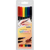 Marvy Uchida Double Ended Marker, Vivid Dye Based Colors, Primary Set