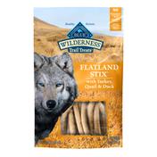 Blue Buffalo Wilderness Flatland Stix High Protein Grain Free Soft-Moist Dog Treats, with Turkey, Quail & Duck