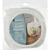 Whitmor Laundry Hamper, White, Pop & Fold
