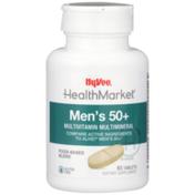 Hy-Vee Healthmarket, Men'S 50+ Multivitamin Multimineral Food-Based Blend Dietary Supplement Tablets
