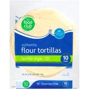 Food Club Flour Burrito Style Tortillas