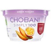 Chobani Simply 100 Mango Passion Fruit Blended Non-Fat Greek Yogurt