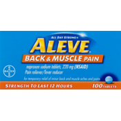 Aleve Back & Muscle Pain Tablets with Naproxen Sodium