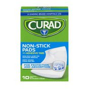 CURAD Non-Stick Pads with Adhesive Tabs 2x3in - 10 CT