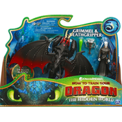 Dreamworks Dragons Grimmel & Deathgripper, Dreamworks How to Train Your Dragon The Hidden World, 4+ Years
