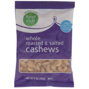 Food Club Roasted & Salted Whole Cashews