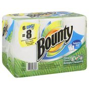Bounty Basic Paper Towels, Select-a-Size, Big Rolls, Two-Ply
