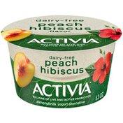 Activia Peach Hibiscus Almond Milk Yogurt Alternative