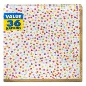 Amscan Luncheon Napkins, Rainbow Confetti, 2-Ply