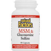 Natural Factors MSM & Glucosamine Sulfate, Capsules